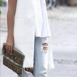 Zara sleeveless long blazer cardigan